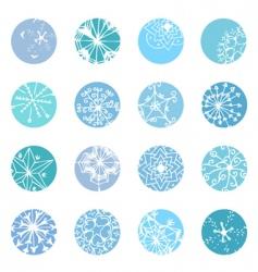 snowflake designs vector image vector image