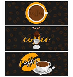 banners coffee vector image vector image