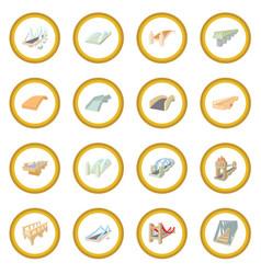 bridge set icon circle vector image