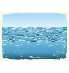 grunge waves vector image vector image