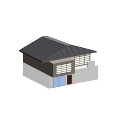 isolated house building vector image