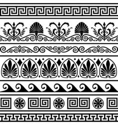 set of antique Greek borders vector image
