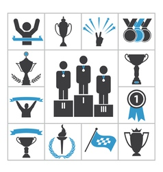 Sports award icons vector image