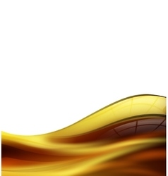 Wave of honey or olive oil vector image