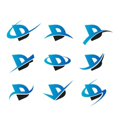 Alphabet D Logo Icons vector image vector image