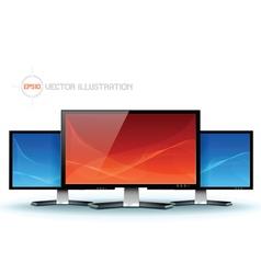 Flat lcd tv monitor vector image vector image