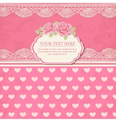 Greeting card Vintage background with lace vector image vector image