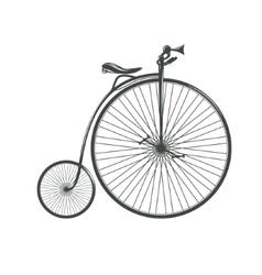 Old vintage high bicycle vector image