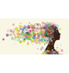 woman's face silhouette vector image vector image