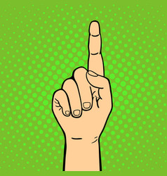 hand showing thumbs up deaf-mute gesture human arm vector image vector image