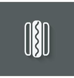 hotdog sausage in bread vector image
