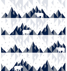 polar bear on iceberg vector image vector image