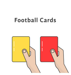 red and yellow football cards vector image