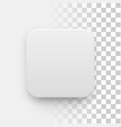 White Blank App Icon Button Template vector image