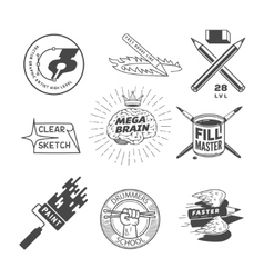 artist logos vector image