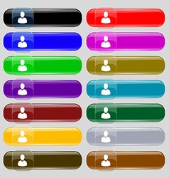 Avatar Icon sign Set from fourteen multi-colored vector