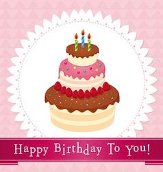 birthday cake 01 vector image