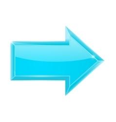 Blue arrow right vector