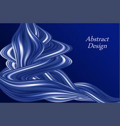 Blue color flow wavy swirl modern background vector