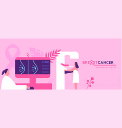 breast cancer awareness mammography concept vector image