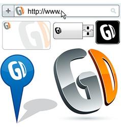 Business GD abstract logo design vector