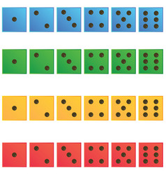 Casino dice set of authentic icons vector