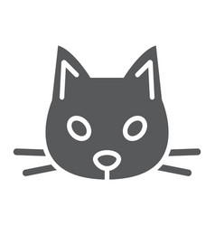cat glyph icon animal and zoo pet sign vector image