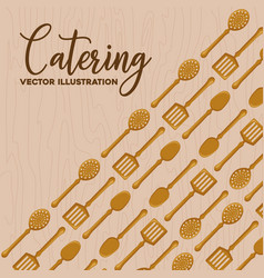 catering concept design vector image
