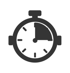 chronometer device time vector image