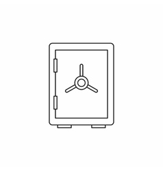 Closed safe icon outline style vector