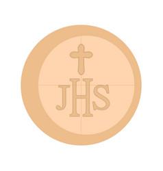 Communion host icon vector