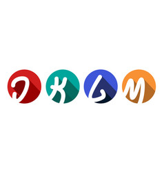 creative capital letters j k l m inscribed in a vector image