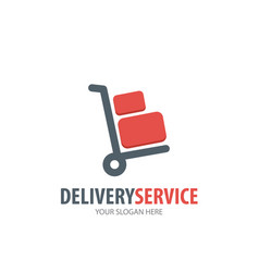 delivery service logo for business company simple vector image
