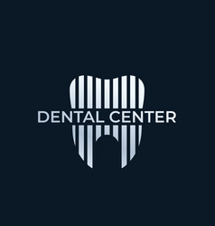 Dental center dentist logo vector