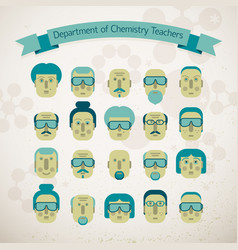 Department of chemistry teachers vector