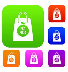 eco food bag set collection vector image