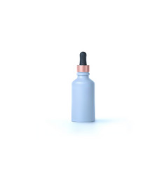 Elegant cosmetic dropper for skin care isolated on vector