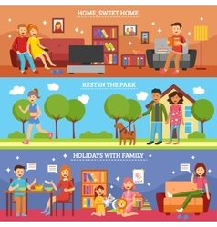 Family Banner Set vector