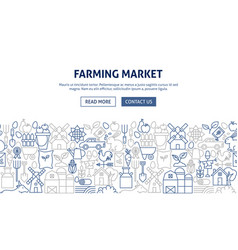 farming market banner design vector image