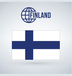 finland flag isolated on modern background with vector image