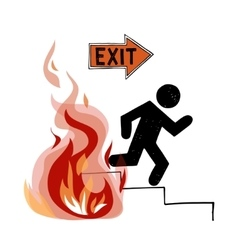 Fire evacuation sign vector