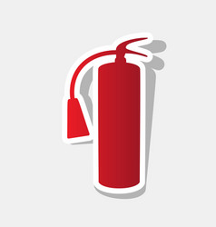 fire extinguisher sign new year reddish vector image