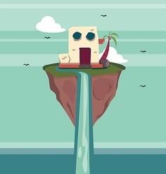 Floating Island Fantasy vector