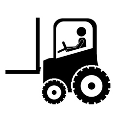 Forklift tractor icon image vector