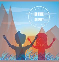 freedom lifestyle design vector image