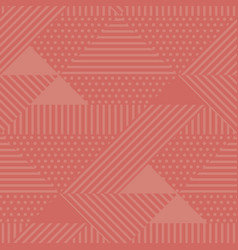 geometric seamless pattern shades of coral color vector image
