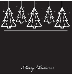 Hanging christmas trees vector