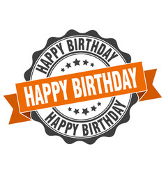 Happy birthday stamp sign seal vector