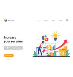 Increase revenue concept landing page investor vector