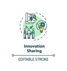 Innovation sharing concept icon vector